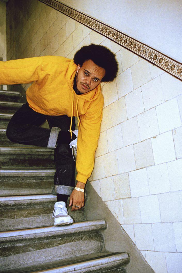 tarik in yellow hoodie